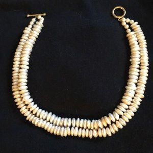 Freshwater pearl double strand necklace.